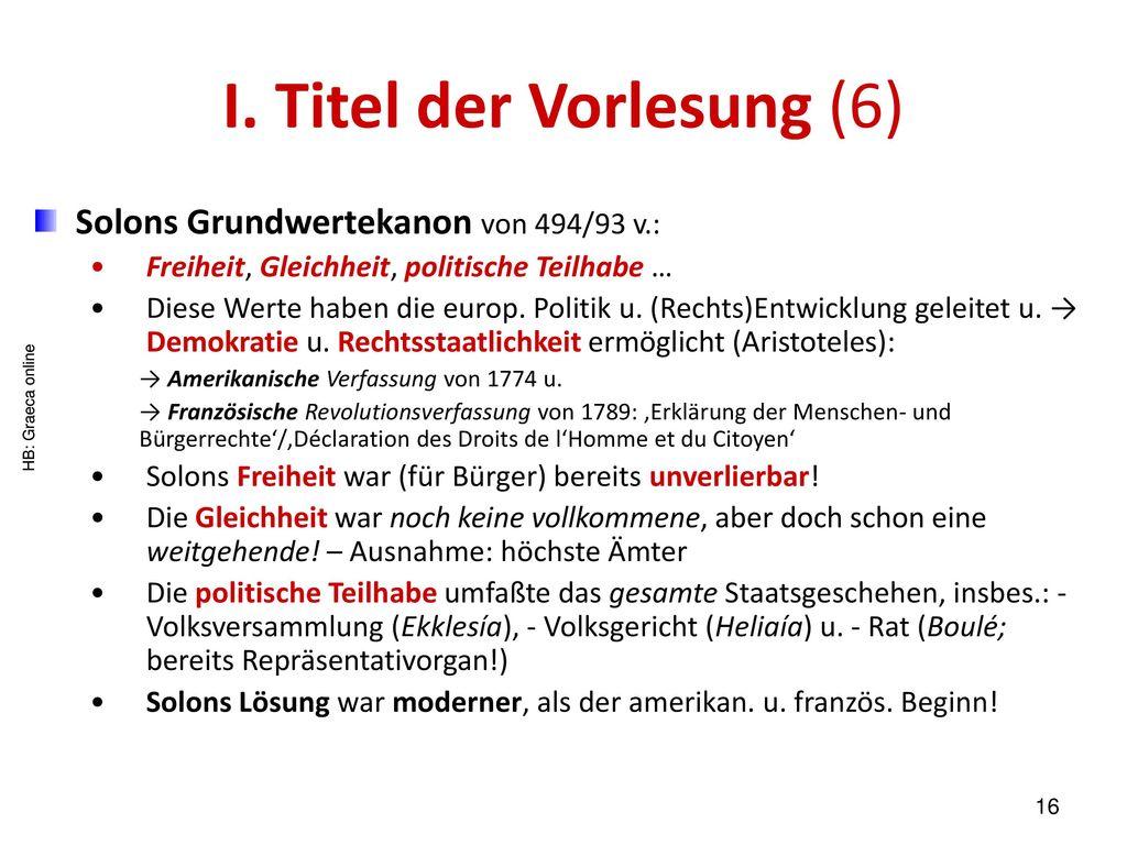 I. Titel der Vorlesung (6)