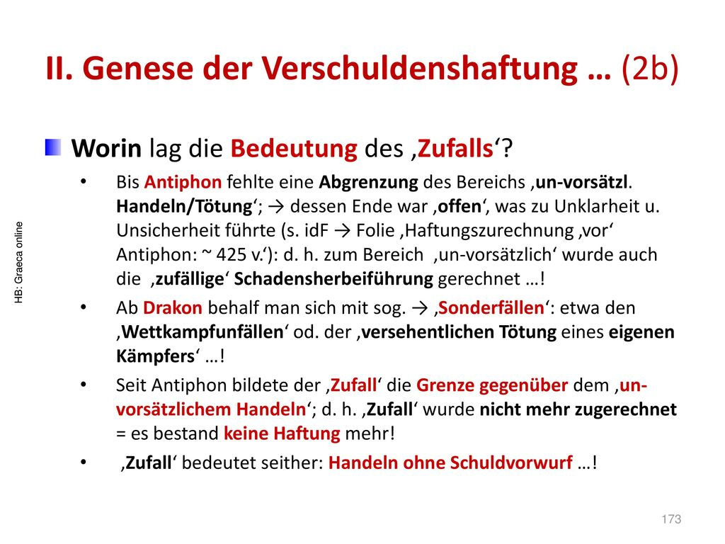 II. Genese der Verschuldenshaftung … (2b)