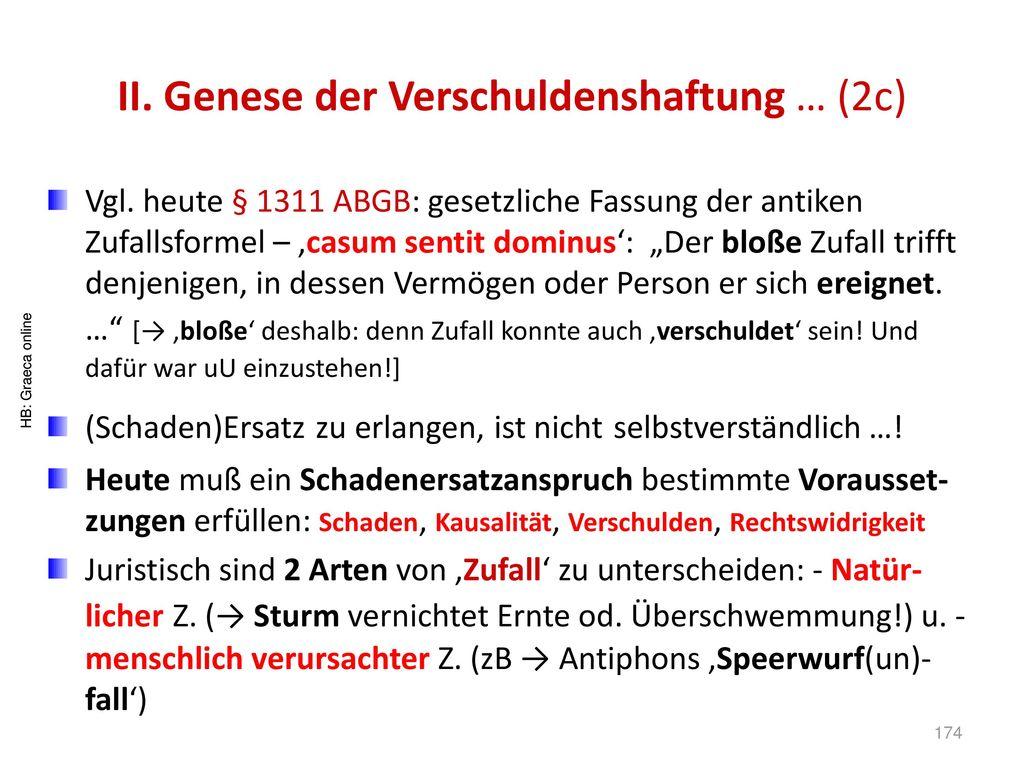 II. Genese der Verschuldenshaftung … (2c)