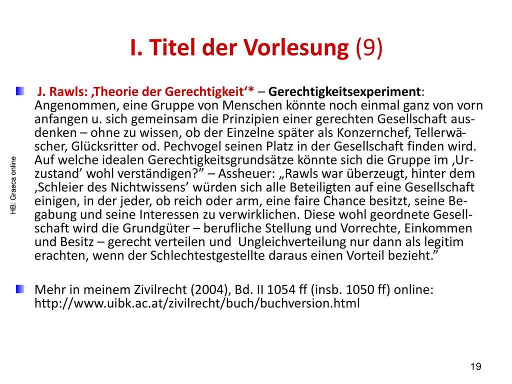 I. Titel der Vorlesung (9)