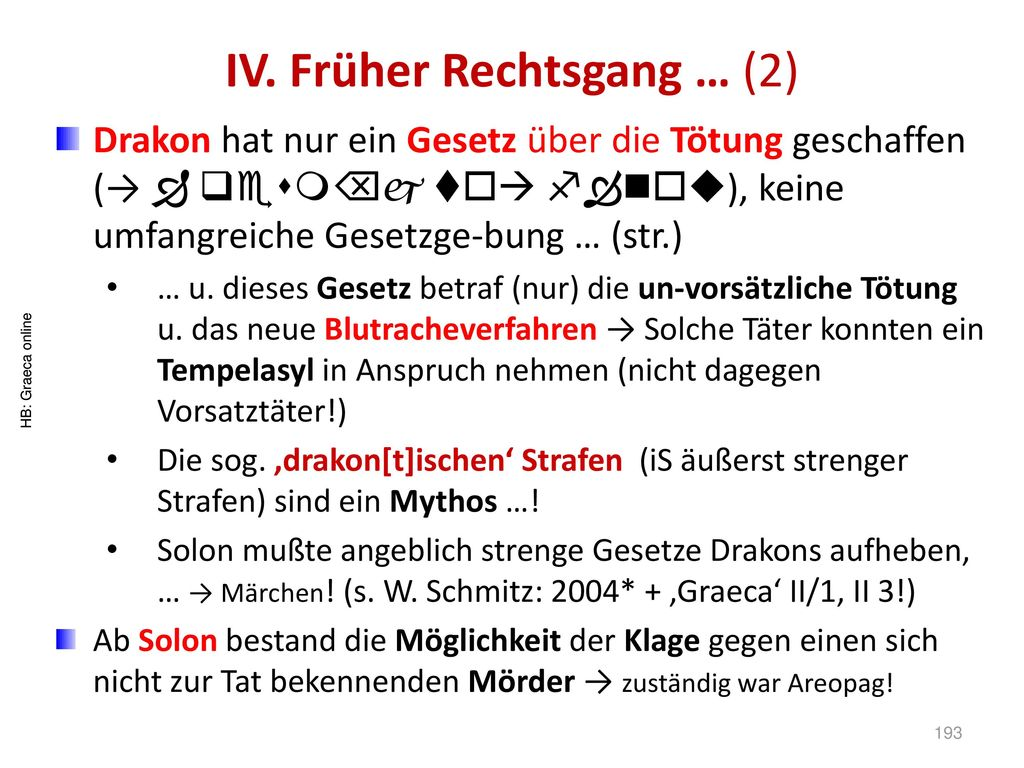 IV. Früher Rechtsgang … (2)