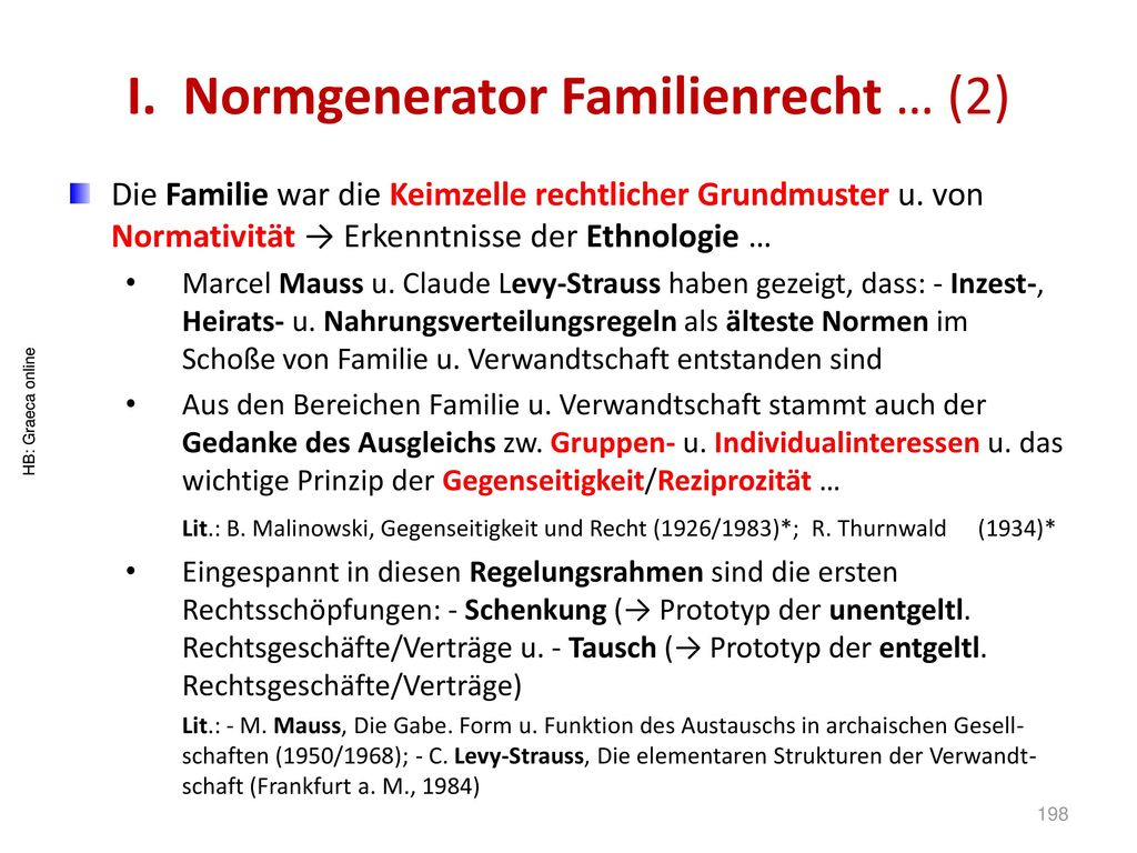 I. Normgenerator Familienrecht … (2)