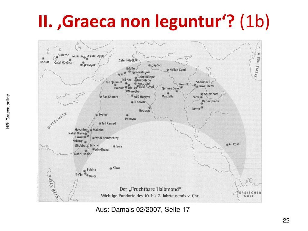 II. 'Graeca non leguntur' (1b)