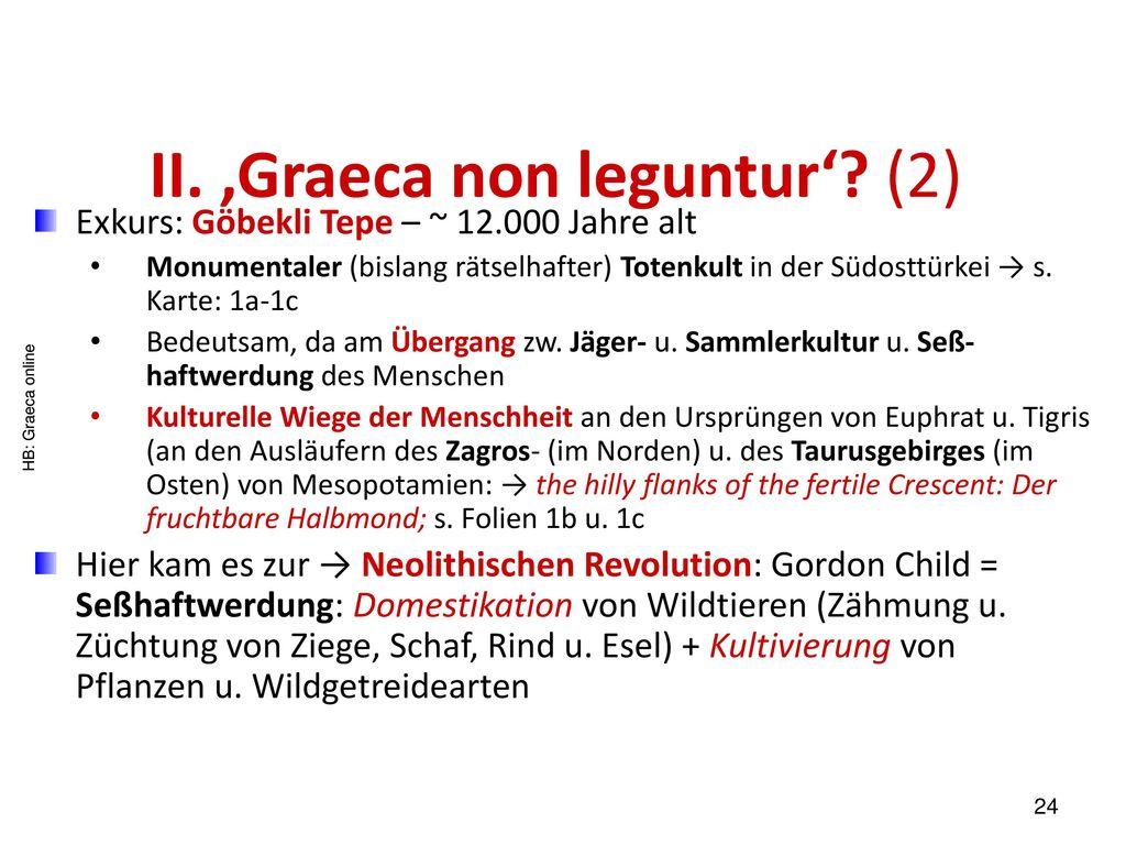 II. 'Graeca non leguntur' (2)
