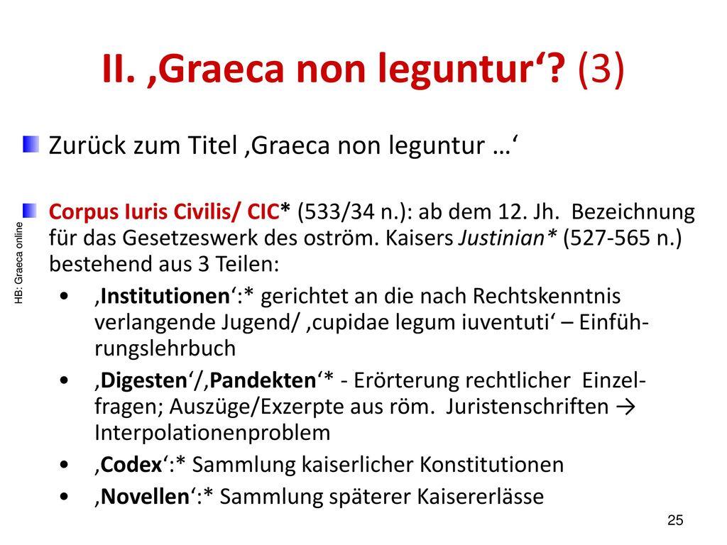 II. 'Graeca non leguntur' (3)