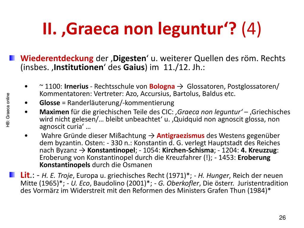 II. 'Graeca non leguntur' (4)
