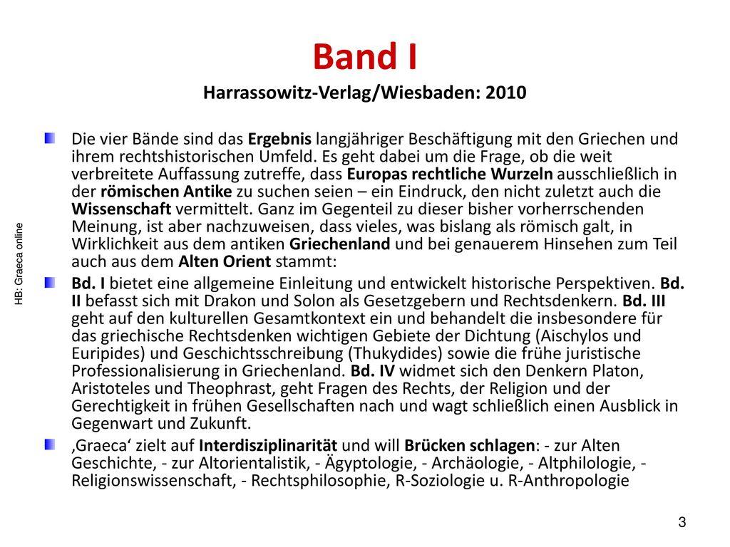 Band I Harrassowitz-Verlag/Wiesbaden: 2010