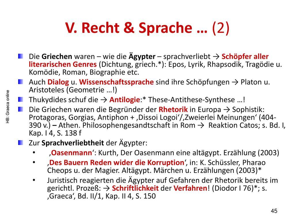 V. Recht & Sprache … (2)