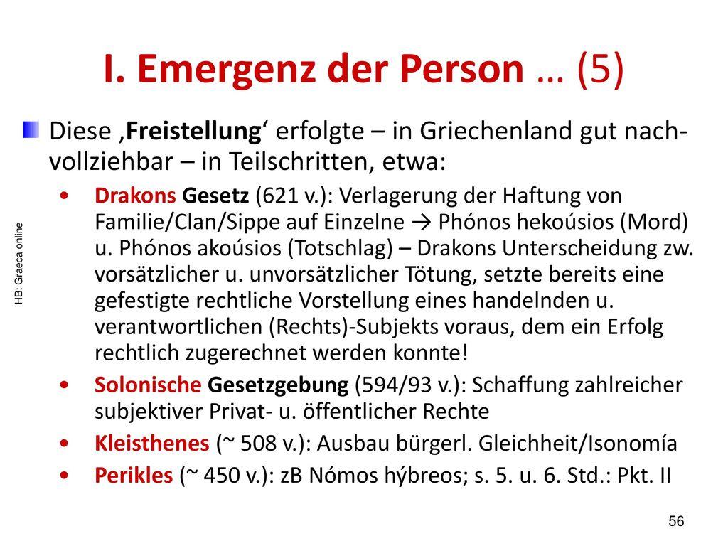 I. Emergenz der Person … (5)