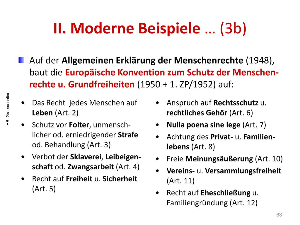 II. Moderne Beispiele … (3b)