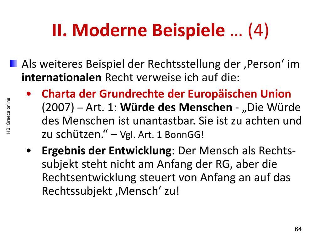 II. Moderne Beispiele … (4)