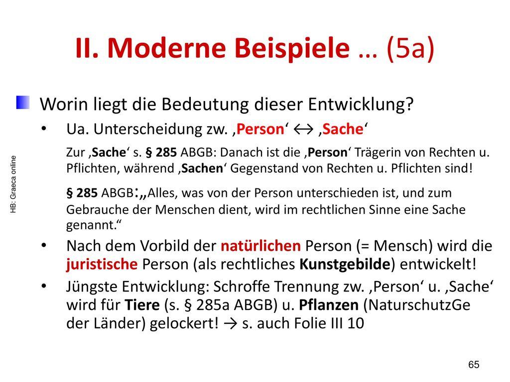 II. Moderne Beispiele … (5a)