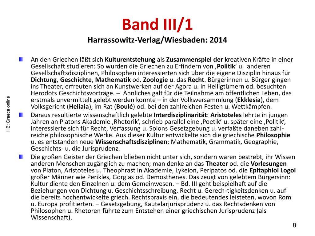 Band III/1 Harrassowitz-Verlag/Wiesbaden: 2014