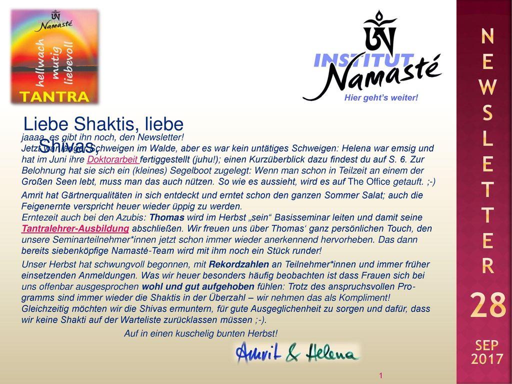 Liebe Shaktis, liebe Shivas,