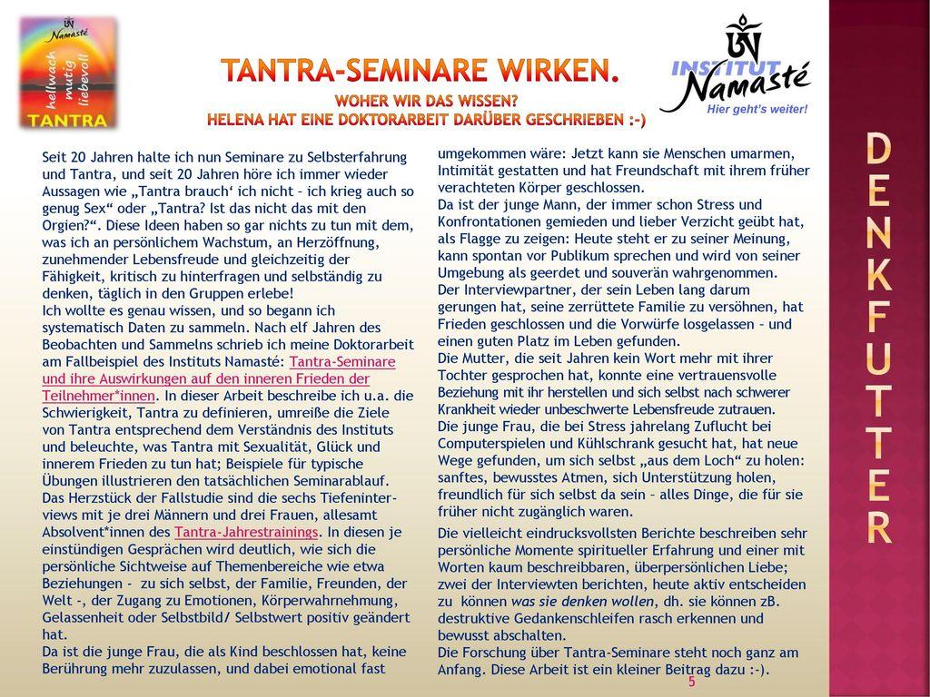 Tantra-Seminare wirken.