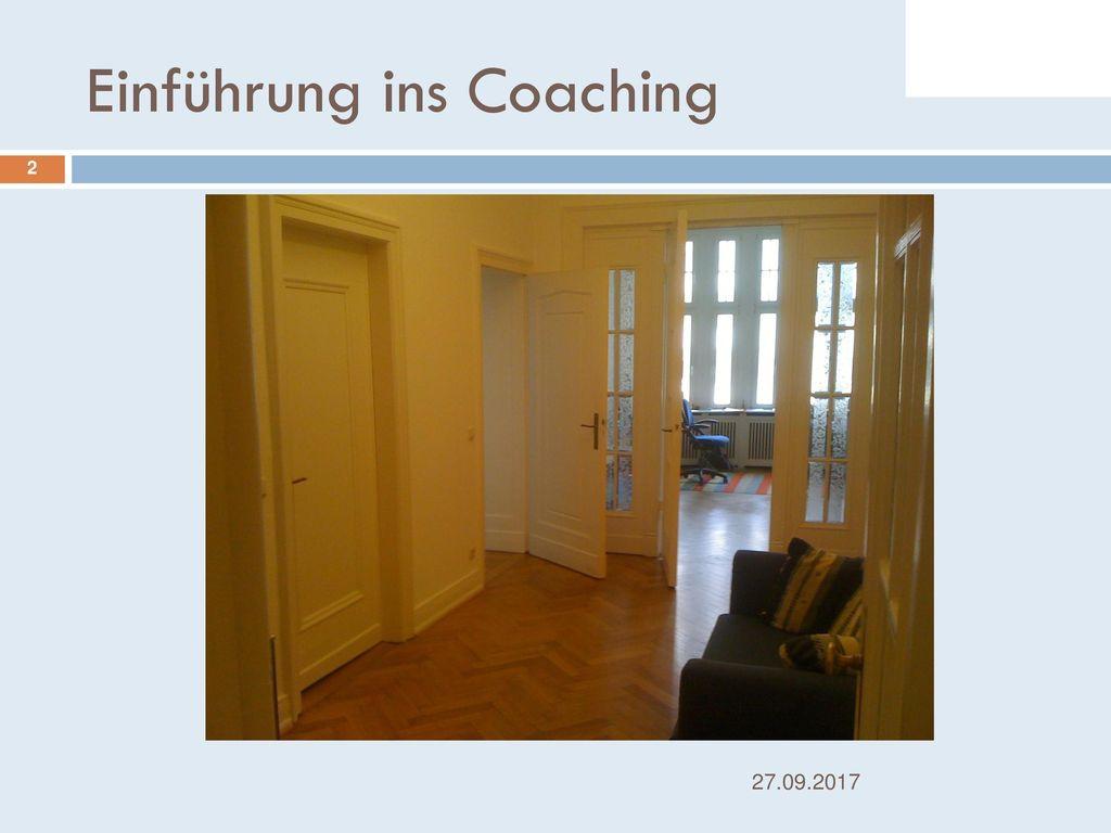 Einführung ins Coaching