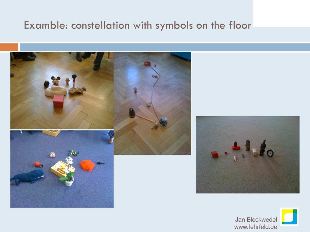 Examble: constellation with symbols on the floor