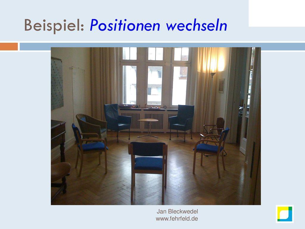 Beispiel: Positionen wechseln