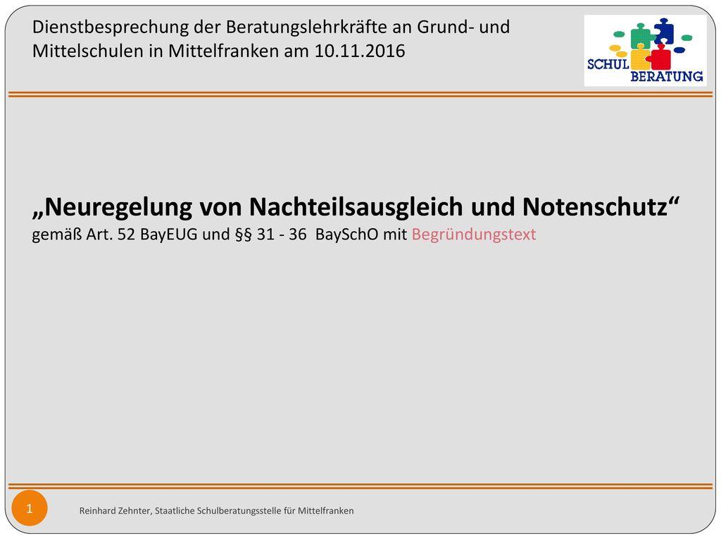 Dienstbesprechung der Beratungslehrkräfte an Grund- und Mittelschulen in Mittelfranken am 10.11.2016