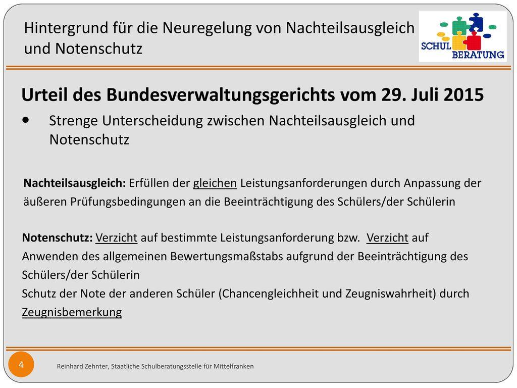 Urteil des Bundesverwaltungsgerichts vom 29. Juli 2015