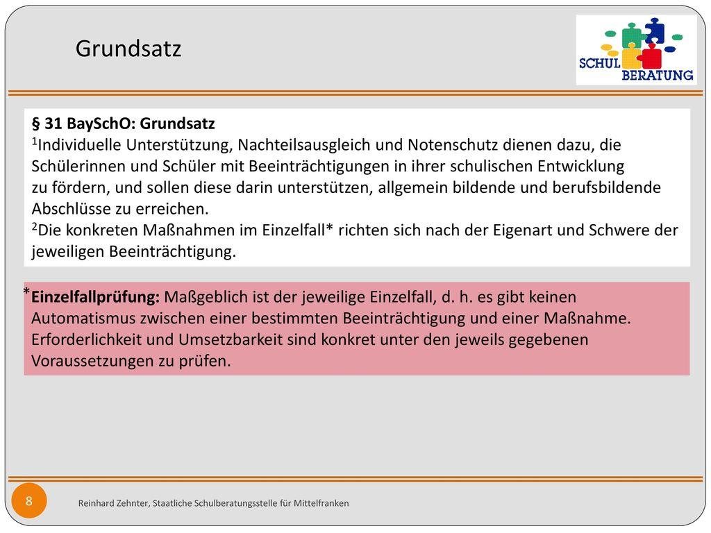 Grundsatz § 31 BaySchO: Grundsatz