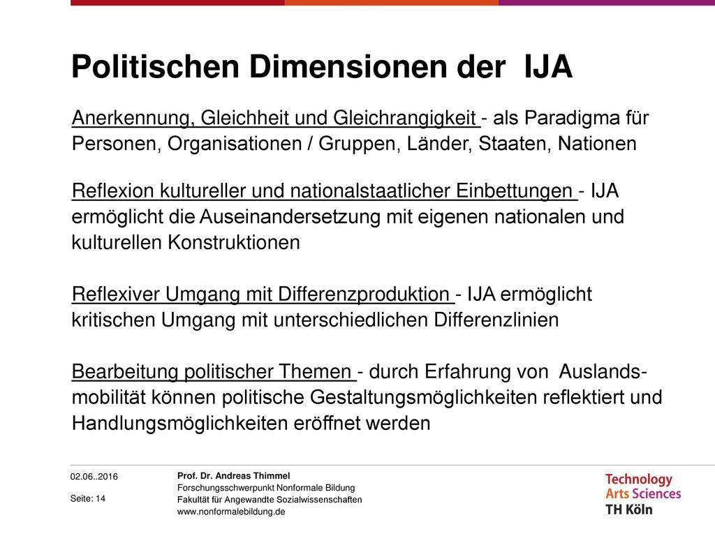 Politischen Dimensionen der IJA