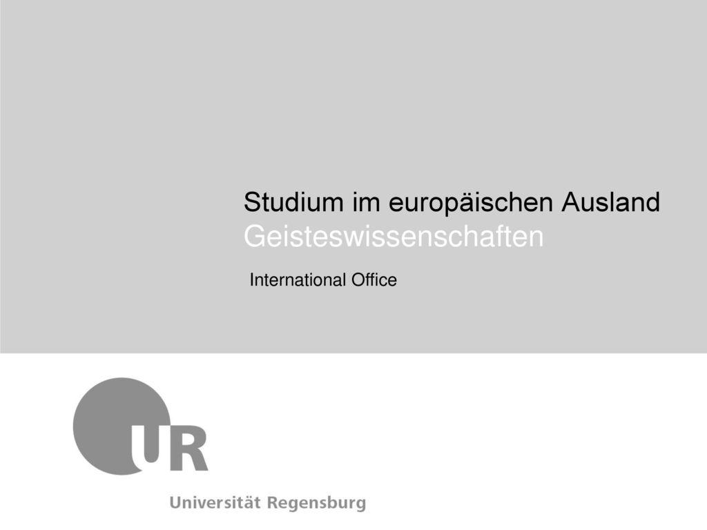 Studium im europäischen Ausland