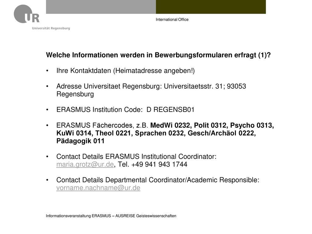 Welche Informationen werden in Bewerbungsformularen erfragt (1)