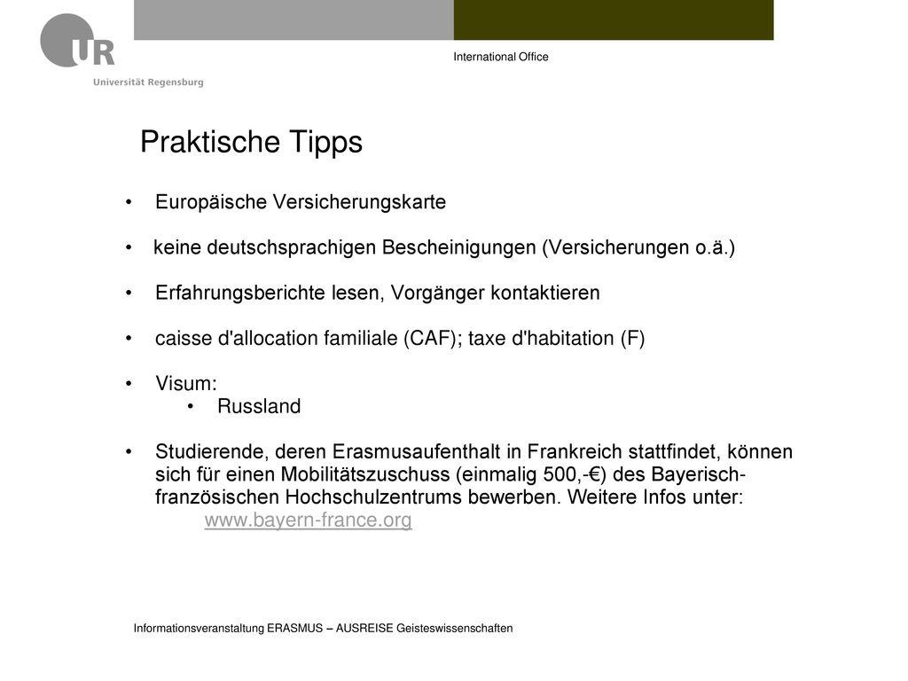 Praktische Tipps Europäische Versicherungskarte