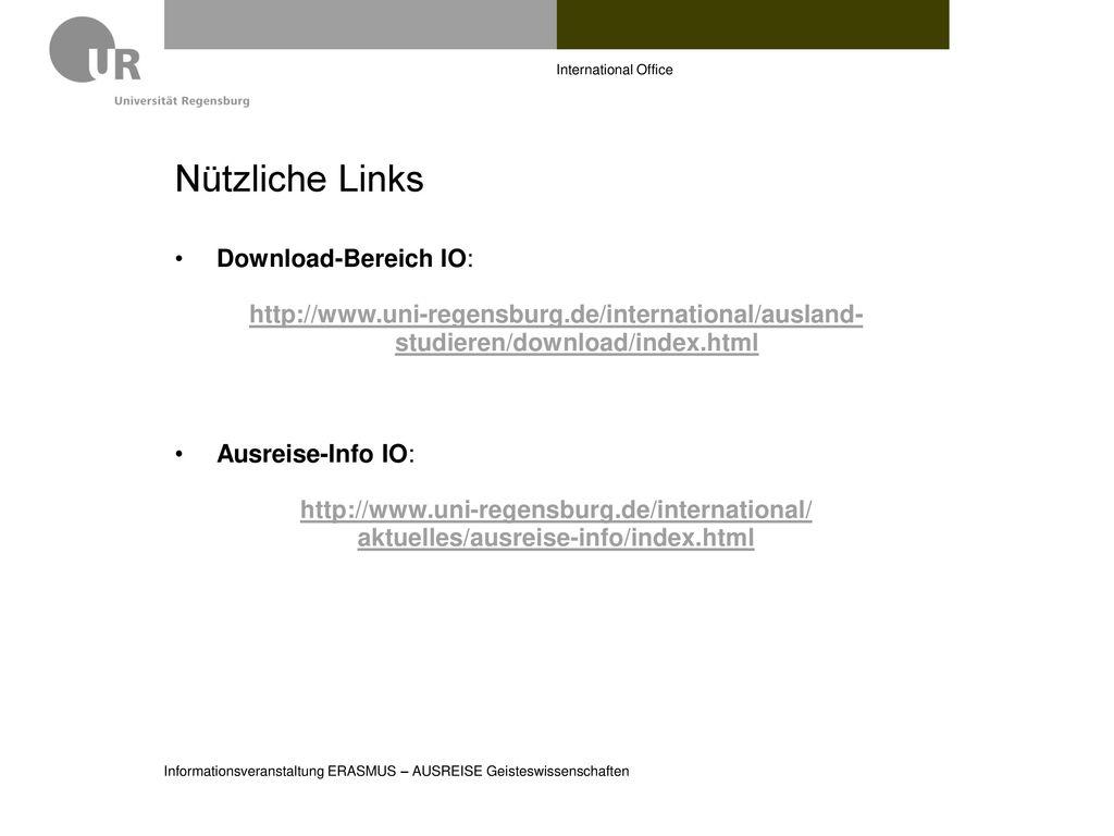 Nützliche Links Download-Bereich IO: