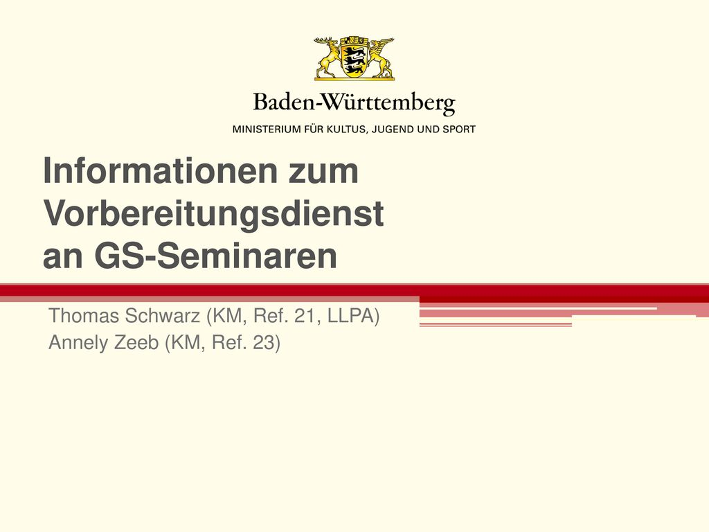 Informationen zum Vorbereitungsdienst an GS-Seminaren