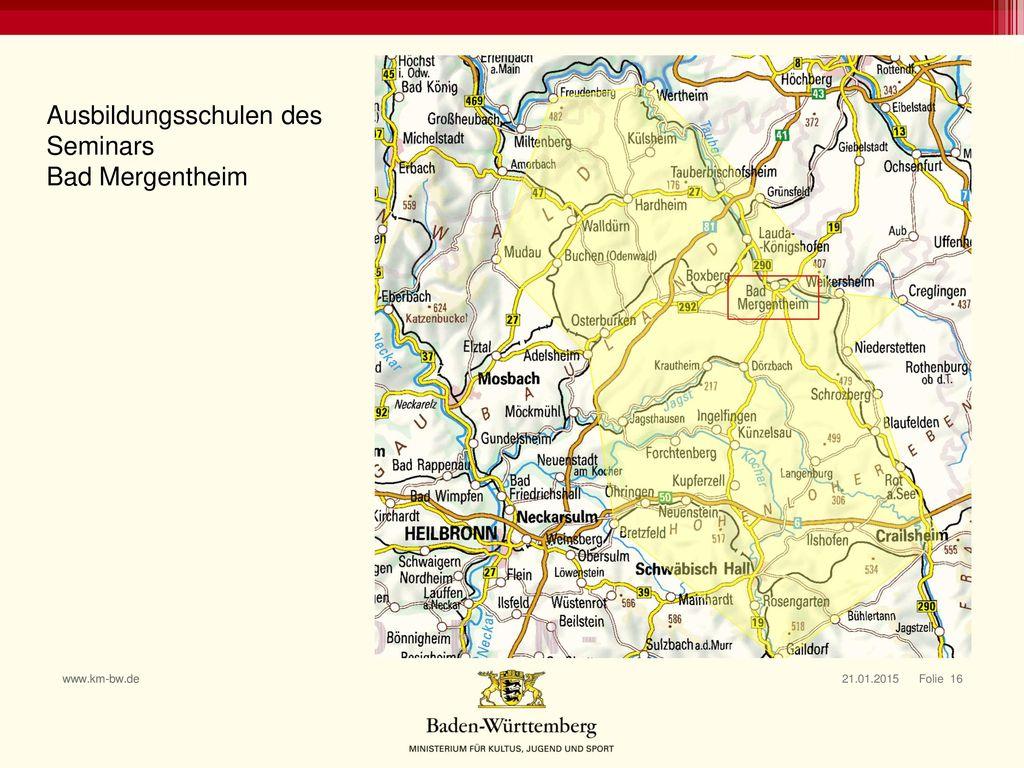 Ausbildungsschulen des Seminars Bad Mergentheim