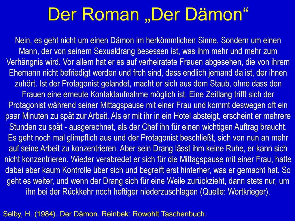 """Der Roman """"Der Dämon"""
