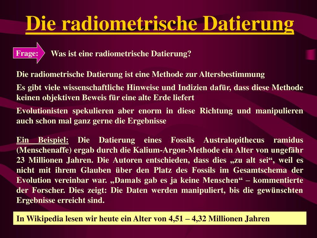 Die radiometrische Datierung
