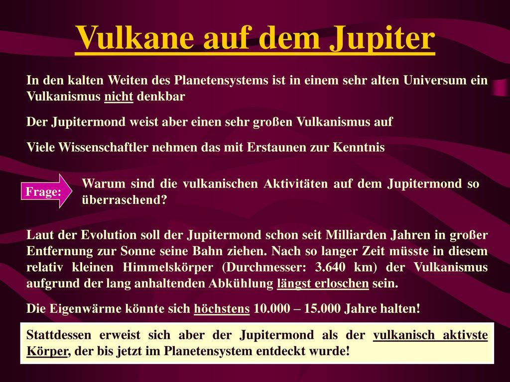 Vulkane auf dem Jupiter