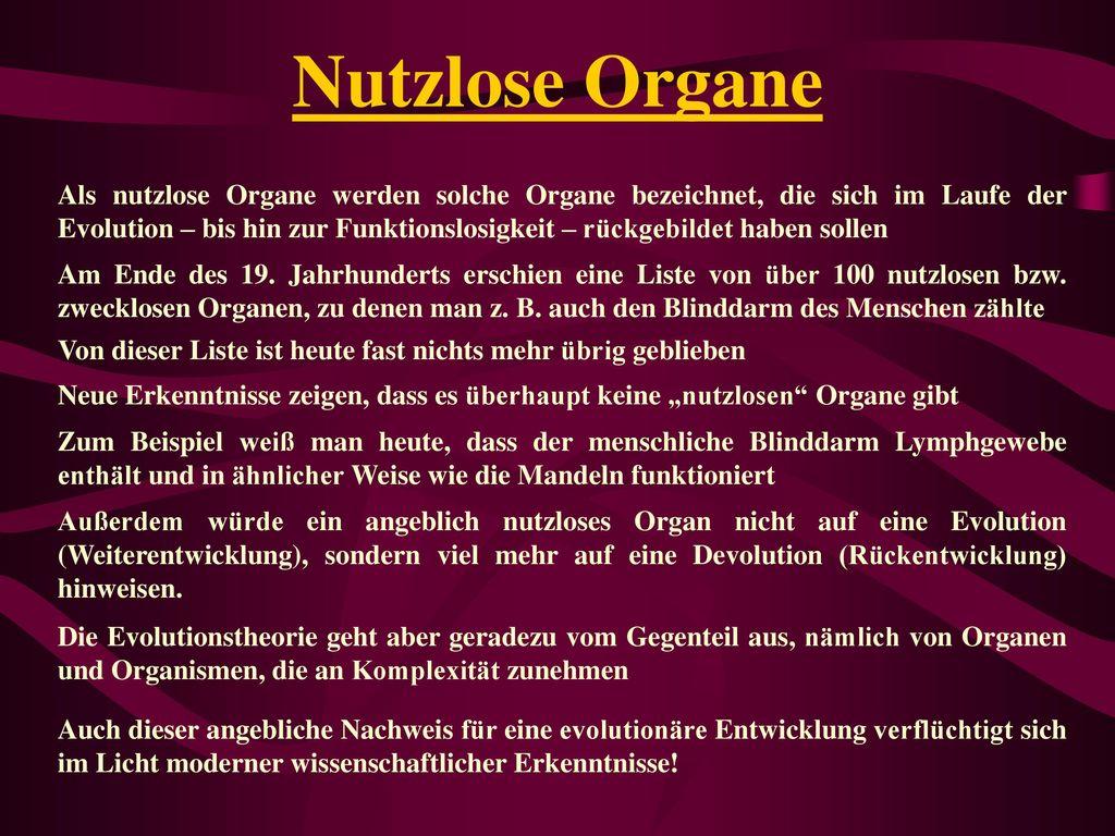 Nutzlose Organe