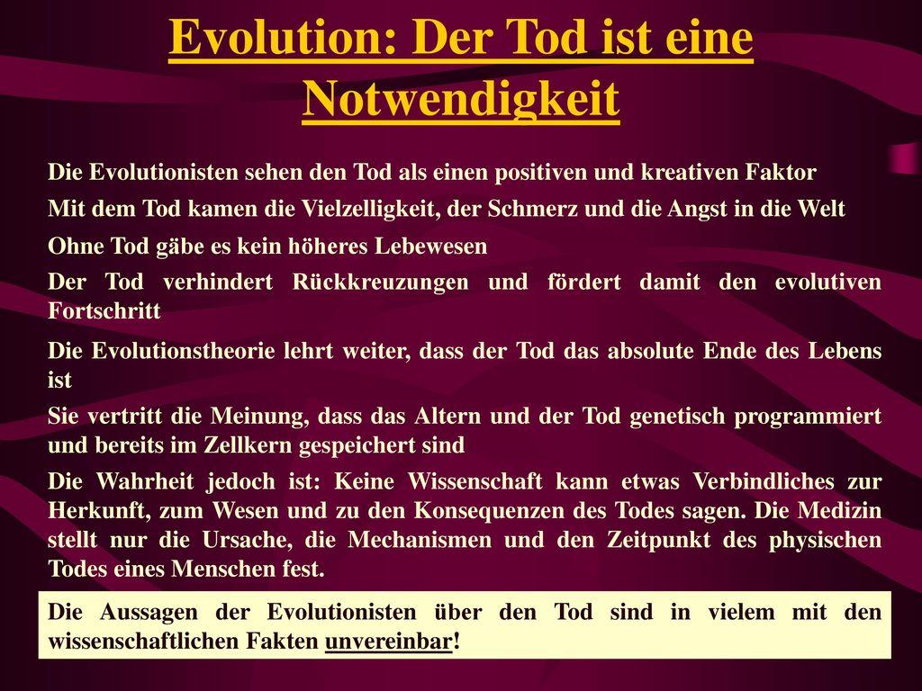 Evolution: Der Tod ist eine Notwendigkeit
