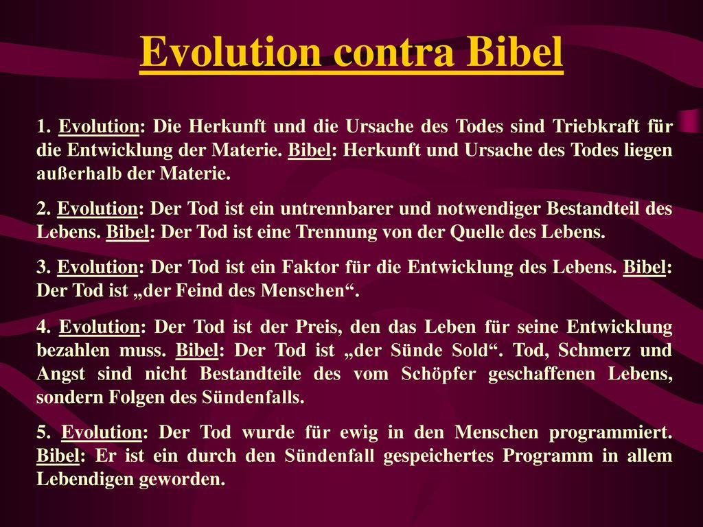 Evolution contra Bibel