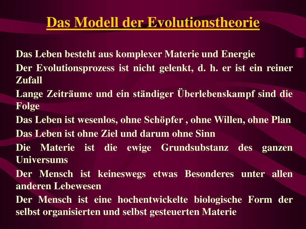 Das Modell der Evolutionstheorie