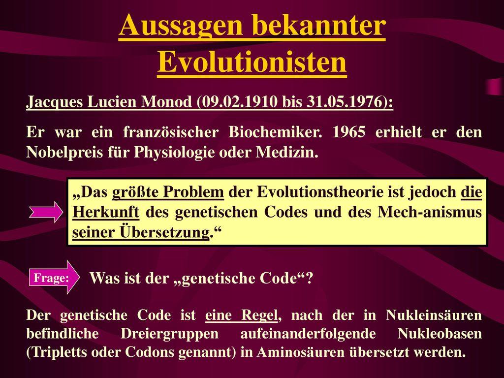 Aussagen bekannter Evolutionisten