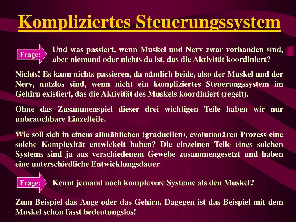Kompliziertes Steuerungssystem