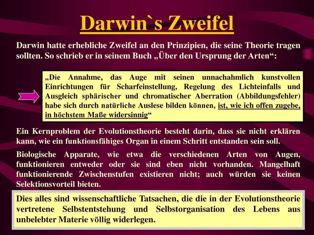 Darwin`s Zweifel