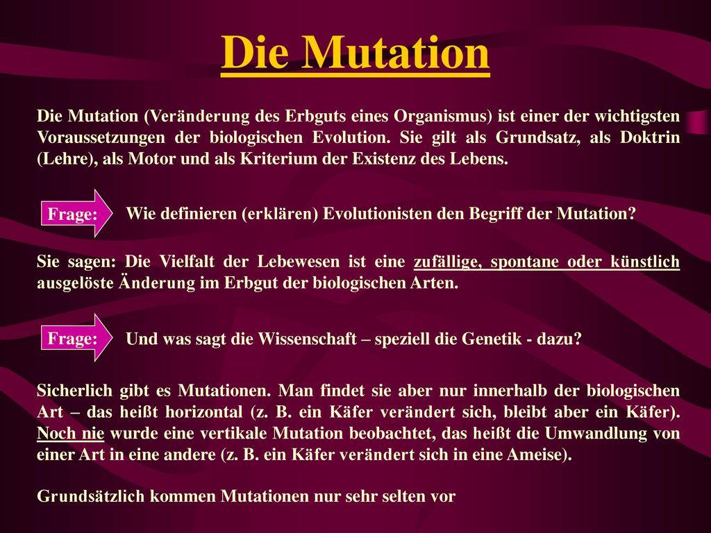 Die Mutation