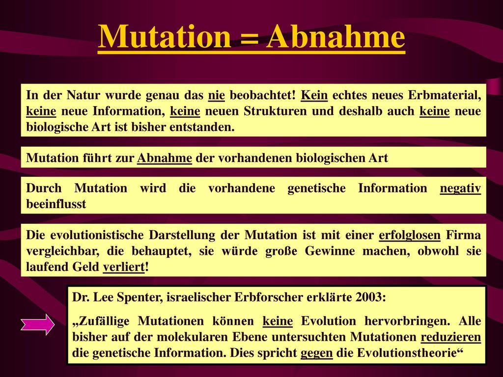 Mutation = Abnahme
