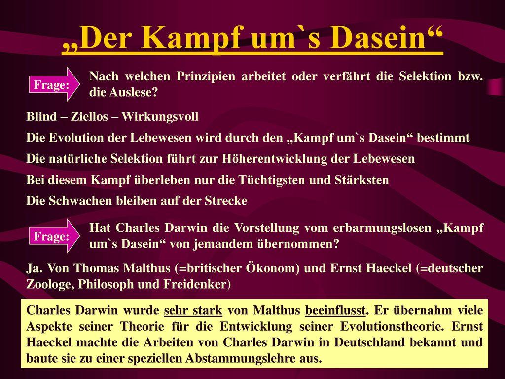 """""""Der Kampf um`s Dasein"""