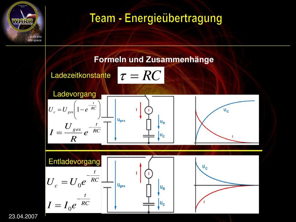 Formeln und Zusammenhänge