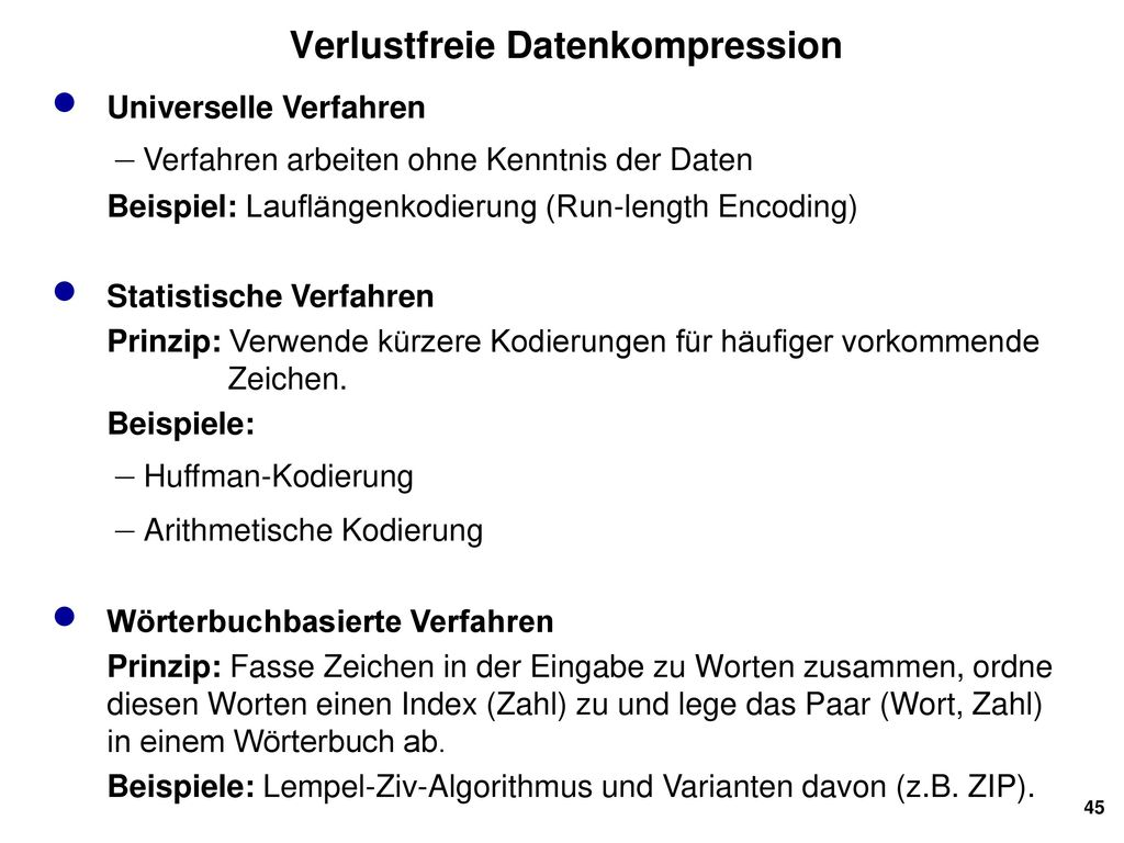 Verlustfreie Datenkompression