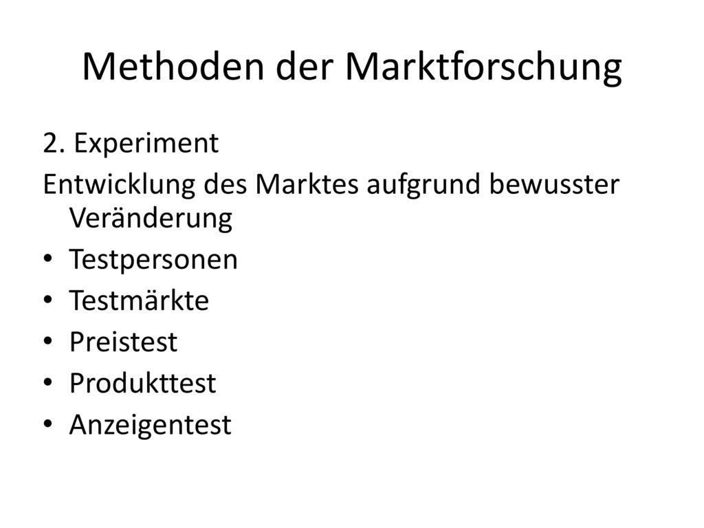 Methoden der Marktforschung