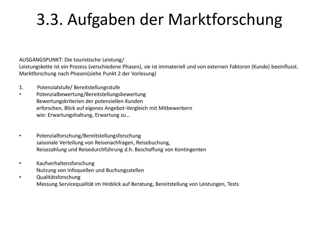 3.3. Aufgaben der Marktforschung