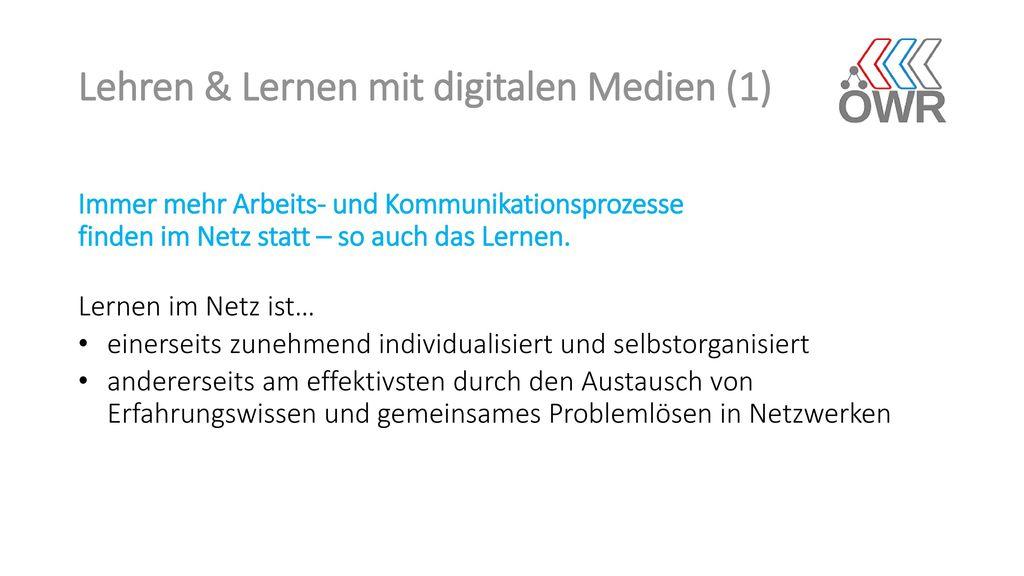 Lehren & Lernen mit digitalen Medien (1)